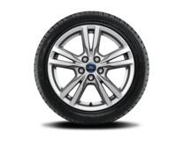 """Vinter-komplethjul, alufælg 17"""" 5 x 2-eget design, sølv"""
