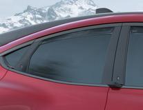 ClimAir®* Defletor de Vento para os vidros das portas traseiras, em preto.