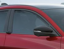 ClimAir®* Defletor de Vento para os vidros das portas dianteiras, em preto.